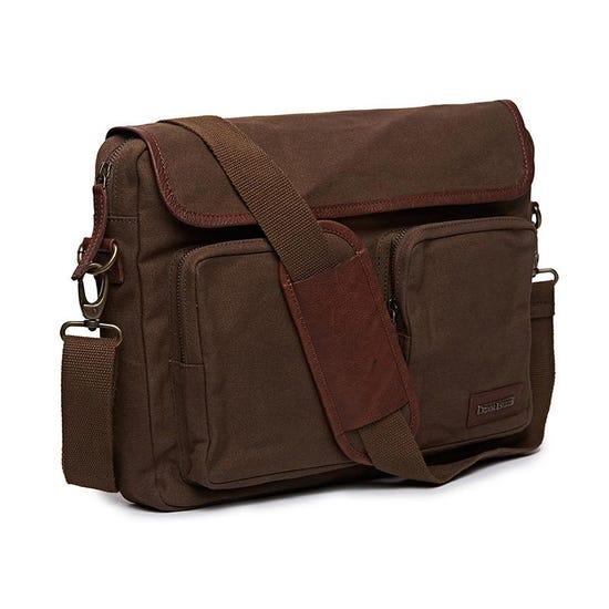 Flying Flea Messenger Bag Khaki Brown