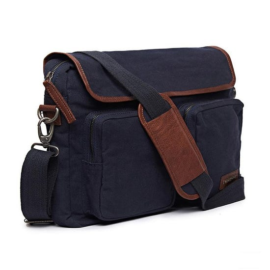 Flying Flea Messenger Bag Navy Blue