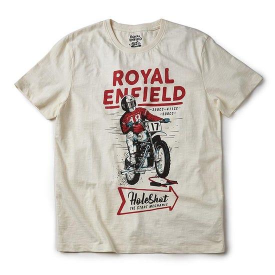 Holeshot T-Shirt Off White