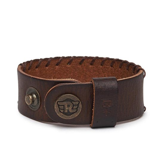 Ice Leather Bracelet Tan Brown