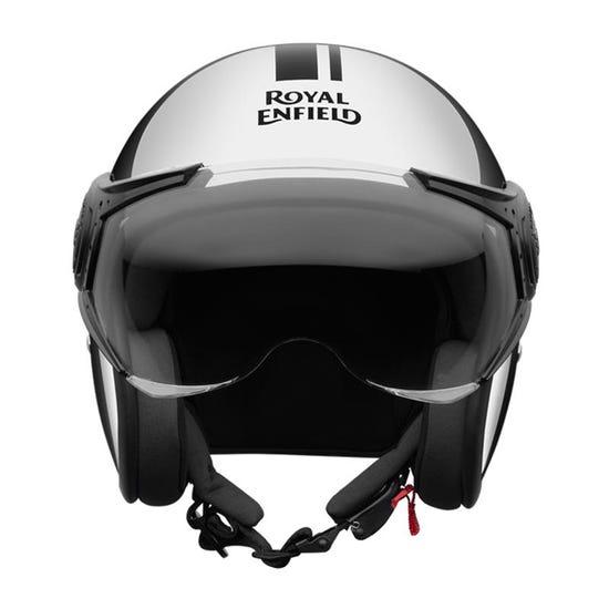 Thick And Thin Stripes Chrome Helmet Chrome