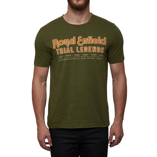 TRIAL LEGENDS T-SHIRT OLIVE GREEN