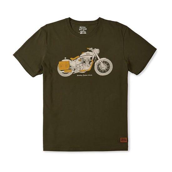 Bombay Custom Works T-Shirt Olive Green