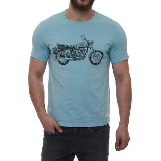 Bullet Crosshatch T-Shirt Sky Blue