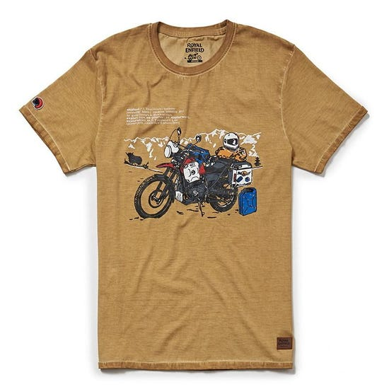 Explore Lexicon T-Shirt - Mustard Yellow