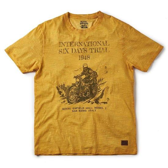 Isdt Model J T-Shirt Mustard Yellow