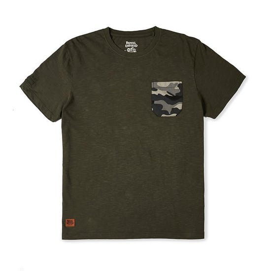 Mlg Camo Pocket T-Shirt Olive Green