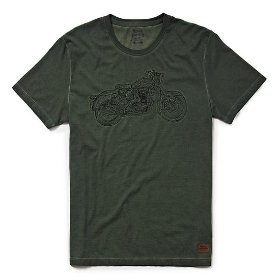 NON STOP CLASSIC T-SHIRT - OLIVE