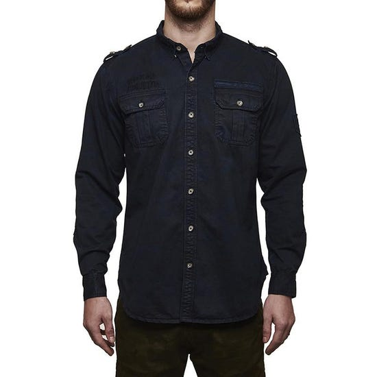 Re Camouflage Shirt Navy