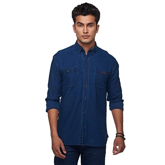 RIDING FLEET SHIRT INDIGO