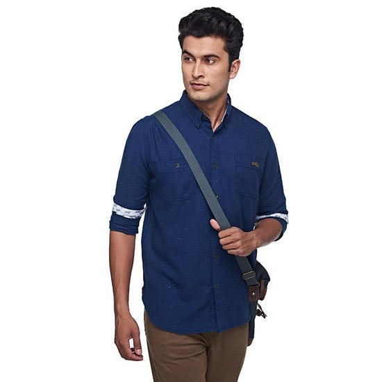 Riding Fleet Shirt Navy