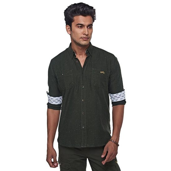 Riding Fleet Shirt Olive