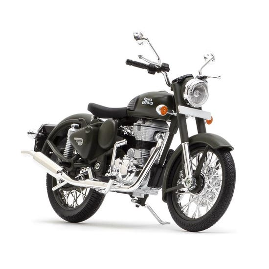 Royal Enfield Classic 500 1:12 Scale Model Battle Green