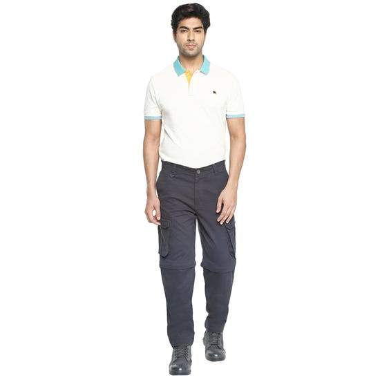 Convertible Trousers-Navy