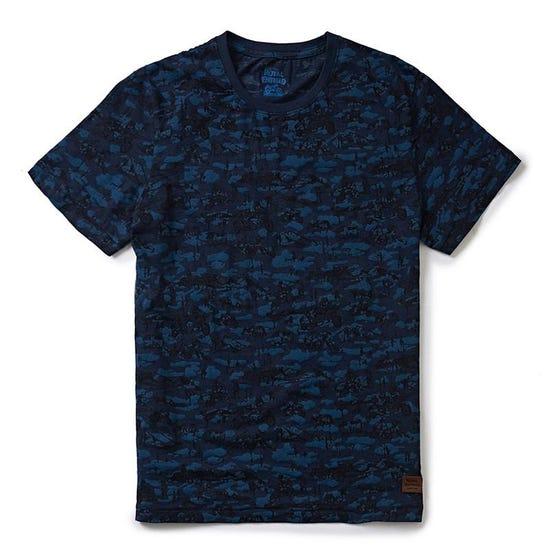 Sidecar Camo T-Shirt Camo Blue