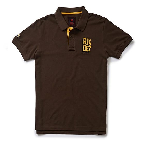 RIDE! POLO T-SHIRT -Dark Brown
