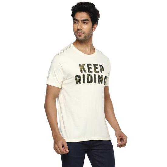 Keep Riding Crew-Off White