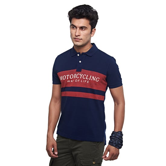 Motorcycling Life Polo Navy