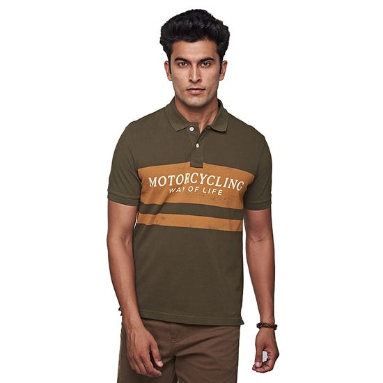 Motorcycling Life Polo Olive