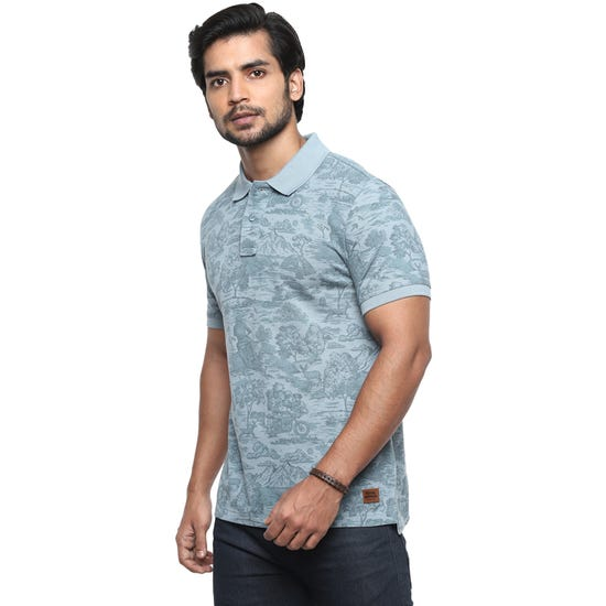 Forest Trails AOP T-shirt-SEA BLUE