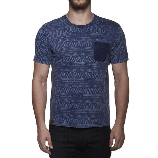 Indigo All Over Print Tee Blue