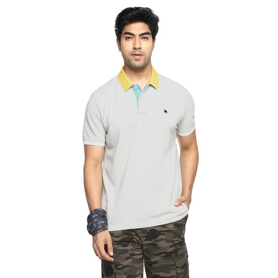 COUNT THE CONTRAST POLO LT. GREY