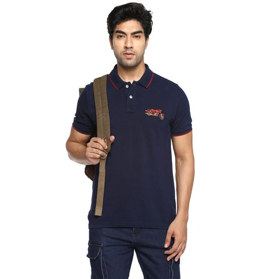 THE CLASSIC POLO T-SHIRT-NAVY