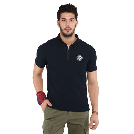 RIDE ON POLO T-SHIRT-NAVY
