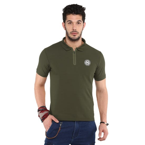 RIDE ON POLO T-SHIRT-OLIVE