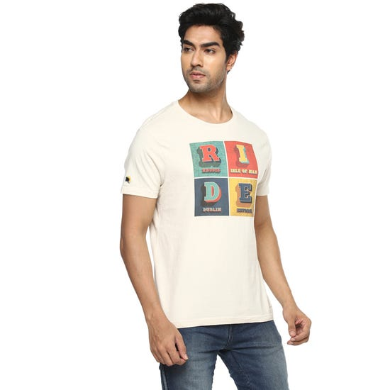 Ride Bold T-Shirt-Off White