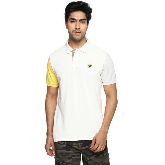 Tri Color Polo T-Shirt-Off White