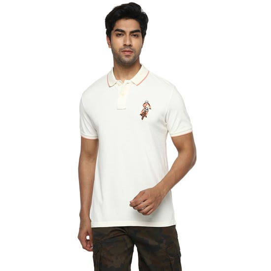 HONOUR THE BADGE POLO OFF-WHITE
