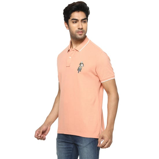 HONOUR THE BADGE POLO PEACH