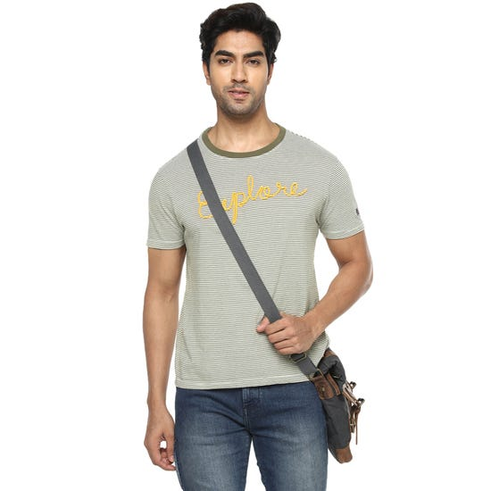 EXPLORE THE LINES T-SHIRT OLIVE