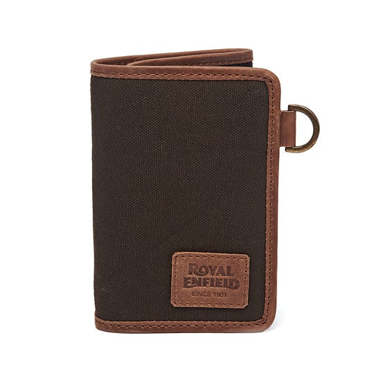 TRIFOLD CLASSICO WALLET-OLIVE & BROWN