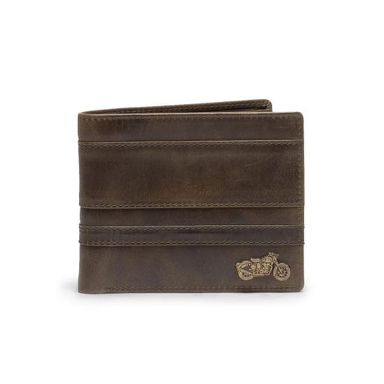 Thick And Thin Stripe Wallet Olive