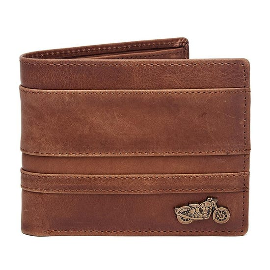 Thick And Thin Stripe Wallet Brown